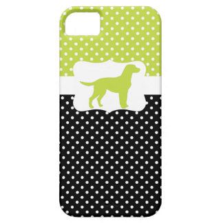 Retro Polka Dot w/Labrador Case For The iPhone 5