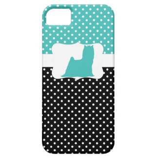 Retro Polka Dot w/Yorkie Case For The iPhone 5