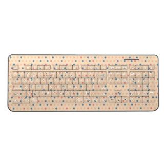 Retro Polka Dot Wireless Keyboard