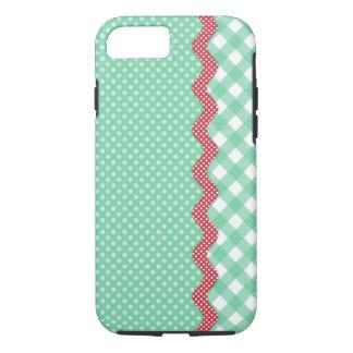 Retro Polka Dots and Checks iPhone 7 Case