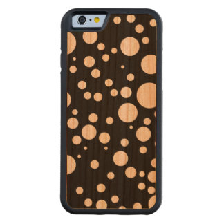 retro polka dots carved cherry iPhone 6 bumper case