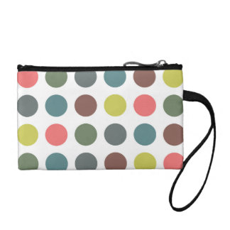Retro Polka Dots Coin Purse