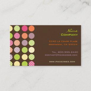 Diy business cards zazzle au retro polka dots diy background business card colourmoves