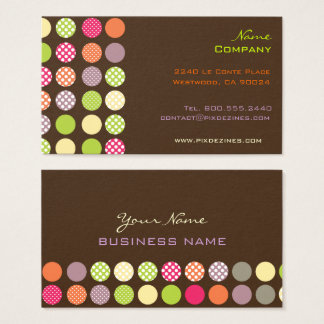 Retro Polka Dots / DIY background Business Card