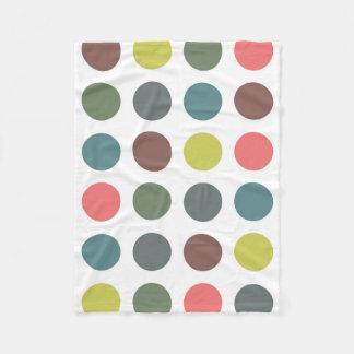 Retro Polka Dots Fleece Blanket