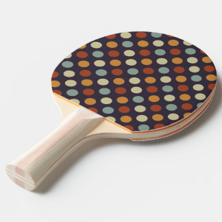 Retro Polka Dots Ping Pong Paddle