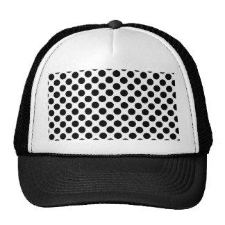 Retro Polkadots - Black & White Mesh Hat