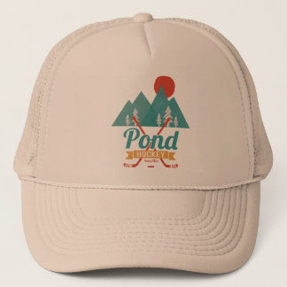 Retro Pond Hockey Trucker Hat