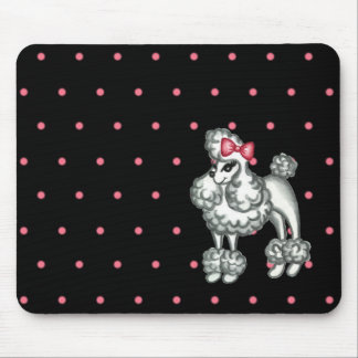 Retro Poodle Mousepad
