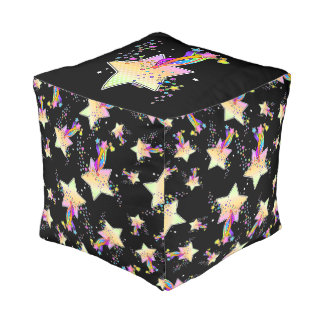 RETRO POP ART STAR POUF