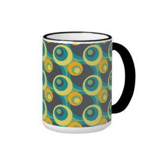 Retro Pop Circles Mosaic Pattern Mugs