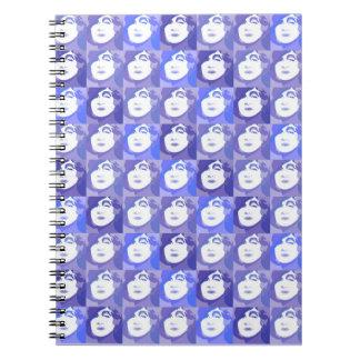 Retro PopArt Lady of Fashion Purple Blue Notebook