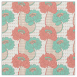 Retro Poppy Pattern Fabric