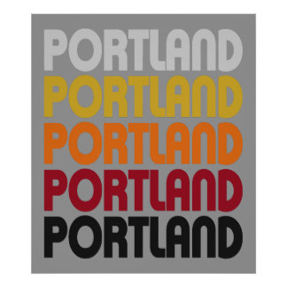 Retro Portland Poster