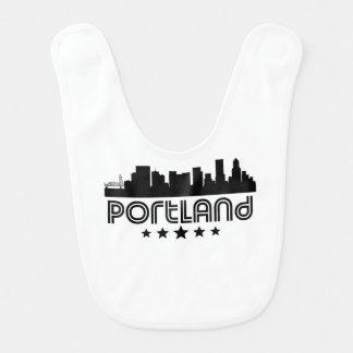Retro Portland Skyline Bib