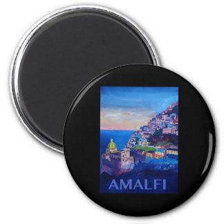 Retro Poster Amalfi Coast italy Magnet