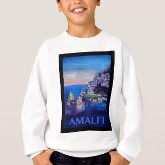 Retro Poster Amalfi Coast italy Sweatshirt