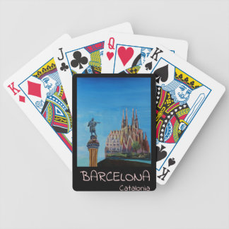 Retro Poster Barcelona Bicycle Playing Cards