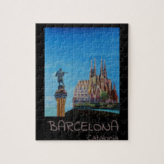 Retro Poster Barcelona Jigsaw Puzzle
