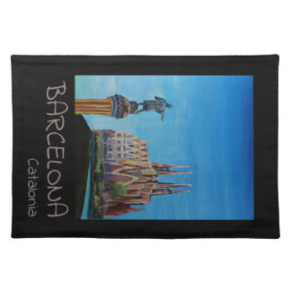 Retro Poster Barcelona Placemat