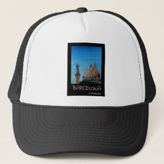 Retro Poster Barcelona Trucker Hat