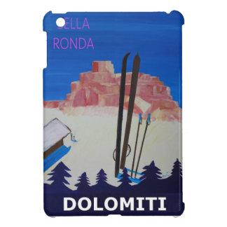 Retro Poster Dolomiti Italy at Sella Ronda iPad Mini Cases