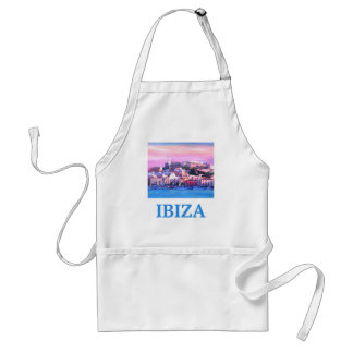 Retro Poster Ibiza Old Town and Harbour Standard Apron