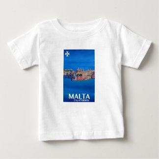 Retro Poster Malta Valetta  - City of Knights Baby T-Shirt