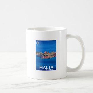 Retro Poster Malta Valetta  - City of Knights Coffee Mug