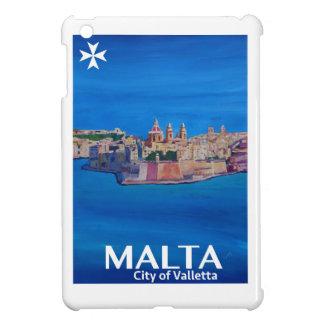 Retro Poster Malta Valetta  - City of Knights iPad Mini Cover