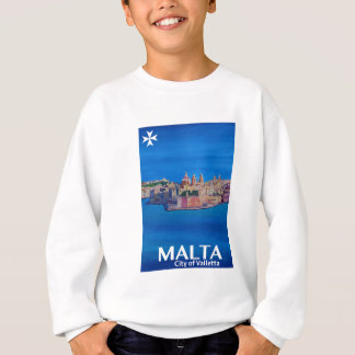 Retro Poster Malta Valetta  - City of Knights Sweatshirt