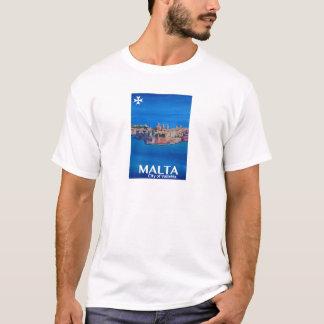 Retro Poster Malta Valetta  - City of Knights T-Shirt