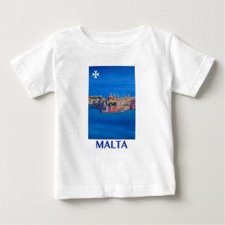 RETRO POSTER Malta Valetta City of KnightsII Baby T-Shirt