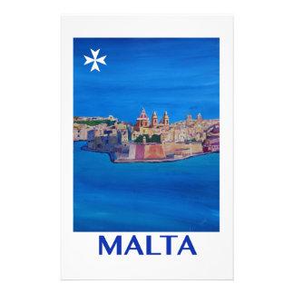 RETRO POSTER Malta Valetta City of KnightsII Stationery