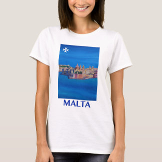 RETRO POSTER Malta Valetta City of KnightsII T-Shirt