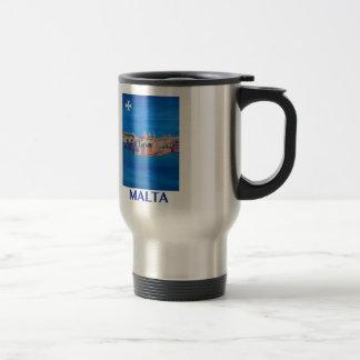 RETRO POSTER Malta Valetta City of KnightsII Travel Mug