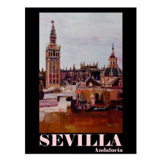 Retro Poster Sevilla Giralda Andalucia Postcard