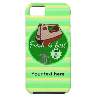 Retro poster style kitchen hand mixer iPhone 5 case