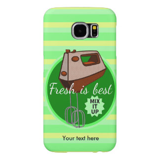 Retro poster style kitchen hand mixer samsung galaxy s6 cases