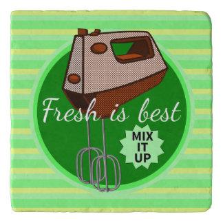 Retro poster style kitchen hand mixer trivet