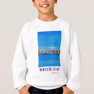 Retro Poster Willemstad Curacao Sweatshirt