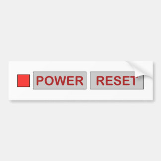 Retro Power Reset Gaming Console for Geek Gamers Bumper Sticker