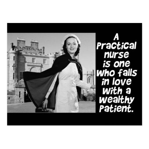 RETRO PRACTICAL  NURSE - HUMOR -  LPN POSTCARD