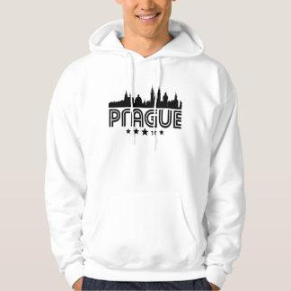Retro Prague Skyline Hoodie