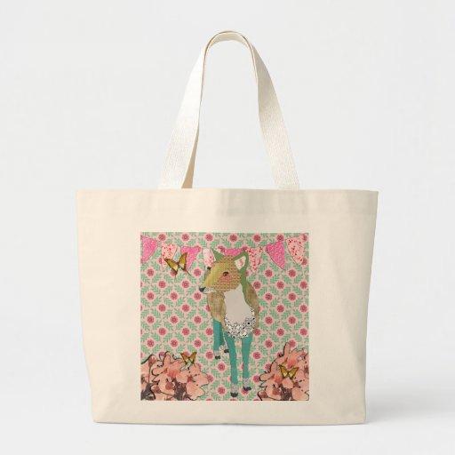 Retro Pretty Jaded  Deer Floral Bag