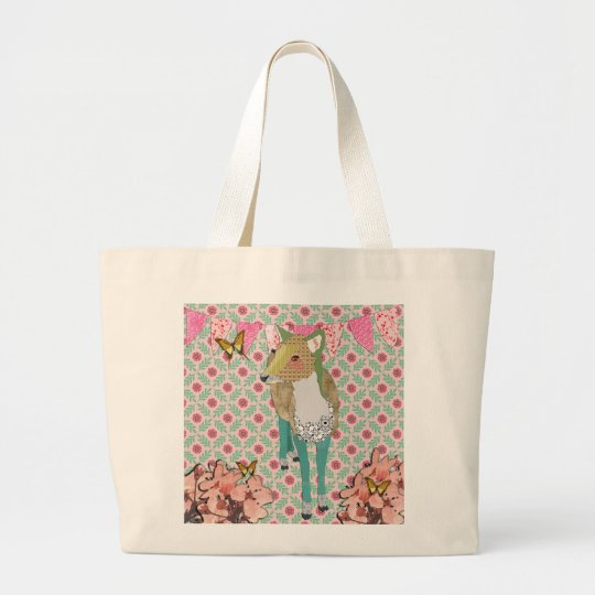 Retro Pretty Jaded  Deer Floral Bag