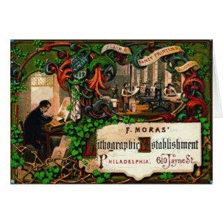 Retro Printing Ad 1867 Card