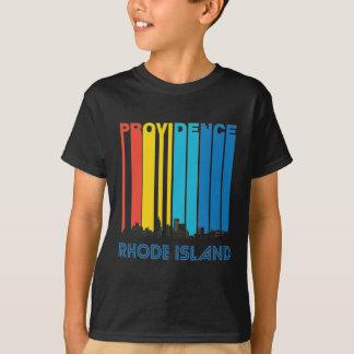 Retro Providence Rhode Island Skyline T-Shirt