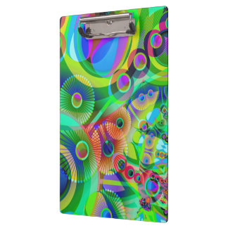 Retro Psychedelic Abstract Clipboard