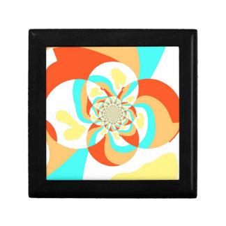 Retro Psychedelic Abstract design Keepsake Box